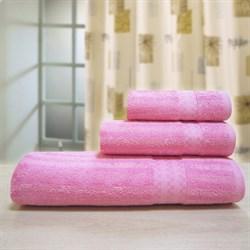 """Махровое полотенце """"Полоса бамбук"""" 33x70 розов. (Б+Х)"""