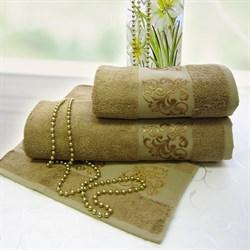 Махровое полотенце 50*90 Бамбук эко карамель - фото 17101