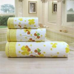 "Махровое полотенце ""Клевер"" желт. 70x140 - фото 20880"