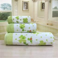 """Махровое полотенце """"Клевер"""" зел. 70x140 - фото 20882"""