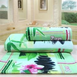 """Махровое полотенце """"Спа"""" зел. 70x140 (Х) - фото 23475"""