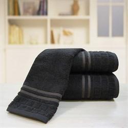 """Махровое полотенце """"Лана"""" темно-корич. 50x90 (Х) - фото 23868"""
