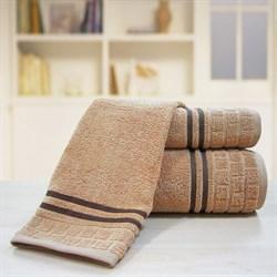 """Махровое полотенце """"Лана"""" коричн. 33x70 (Х) - фото 23887"""