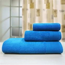 """Махровое полотенце """"Неон"""" аква. 100х150 (Х) - фото 23900"""