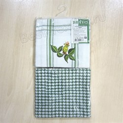 "Набор полотенец ""Дуэт"" зелёный - фото 24250"