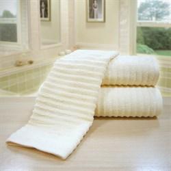 """Махровое полотенце """"Ласка"""" крем. 50x90 (Х) - фото 24926"""