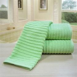 """Махровое полотенце """"Ласка"""" зел. 33x70 (Х) - фото 24935"""