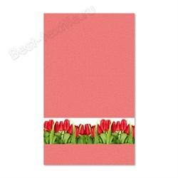 """Кухонное полотенце """"Тюльпаны"""" розов. - фото 25063"""