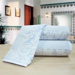 """Махровое полотенце """"Версаль"""" син. 70x130 (Х) - фото 26182"""
