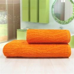 """Махровое полотенце """"Кассандра"""" оранж 33x70 - фото 26350"""