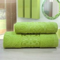 """Махровое полотенце """"Роксолана"""" зел 50х90 - фото 26360"""