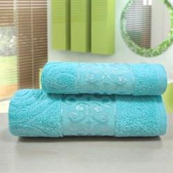 """Махровое полотенце """"Роксолана"""" син 50х90 - фото 26362"""