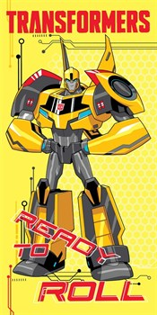 """Махровое полотенце """"Transformers"""" 1087 желт. 33x70 (Х) - фото 26491"""