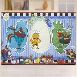 "Кухонный набор полотенец ""Петушки"" 3пр. - фото 26619"