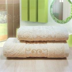 """Махровое полотенце """"Роксолана"""" крем 33x70 - фото 26827"""