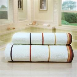 """Махровое полотенце """"Тренд"""" крем. 70x140 (Х) - фото 26920"""
