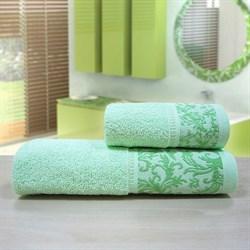 """Махровое полотенце """"Белиссимо"""" зел. 33x70 (Х) - фото 26992"""
