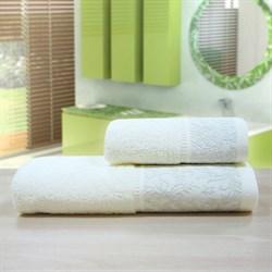 """Махровое полотенце """"Белиссимо"""" крем. 50x90 (Х) - фото 26997"""
