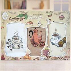 """Кухонный набор полотенец """"Кофе"""" 3пр. - фото 27062"""