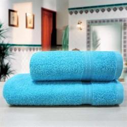 """Махровое полотенце """"Таис"""" аква 50х90 - фото 27173"""