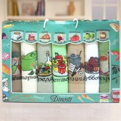 """Кухонный набор полотенец """"Неделька-Овощи"""" 7пр. - фото 27192"""