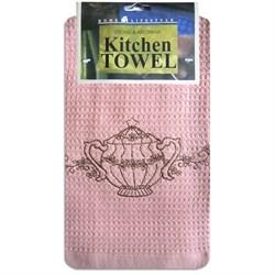 """Кухонное полотенце с вышивкой """"Кофе-Чай"""" - фото 27719"""