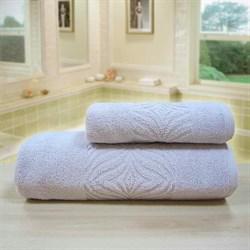 """Махровое полотенце """"Комфорт"""" сирень 33x70 (Х) - фото 28060"""