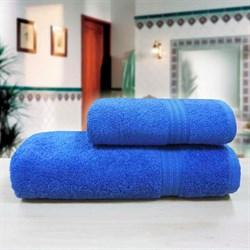 """Махровое полотенце """"Таис"""" син. 70x140 - фото 28198"""