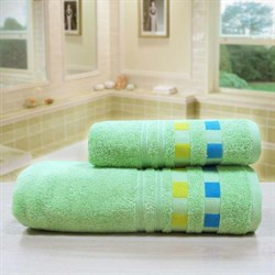 """Махровое полотенце """"Каприз"""" зелен. 45x90 (Х) - фото 28524"""