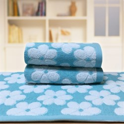 """Махровое полотенце """"Виола"""" син. 33x70 (Х) - фото 28582"""