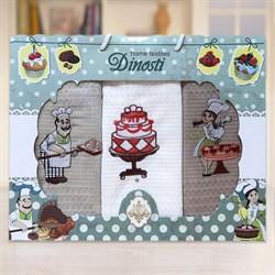 "Кухонный набор полотенец ""Шоколад"" 3пр. - фото 28601"