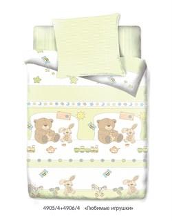 """Комплект в кроватку Маленькая Соня """"Любимые игрушки"""" (3 предмета) - фото 29047"""