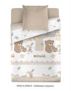 """Комплект в кроватку Маленькая Соня """"Любимые игрушки"""" (3 предмета) - фото 29050"""