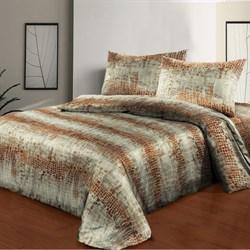 Постельное белье 1.5-Спальное сатин SORRENTO Deluxe рис.1820-1 Тренд - фото 29080