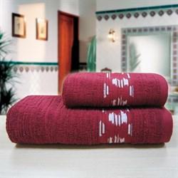 """Махровое полотенце """"Нюанс"""" бордо 70x140 (Х) - фото 29126"""