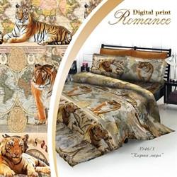 Постельное белье 3D 2-Спальное Romance DP Карта мира - фото 29302