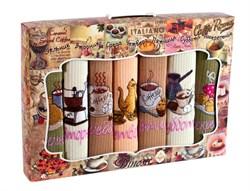 """Кухонный набор полотенец """"Неделька-Кофе с десертом"""" 7пр. - фото 29308"""