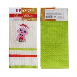 Набор полотенец Новогодние Бон Аппетит 40* 60 2 шт зеленые - фото 29451