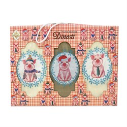 Набор салфеток 3шт ваф/махра с вышивкой Снежинки - фото 29472