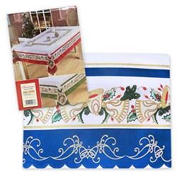 Скатерть 140*200 Новый год синяя - фото 29504