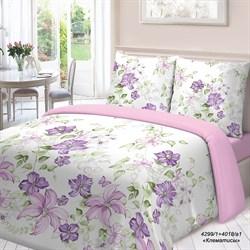 Комплект постельного белья 1.5 Для Снов Клематисы - фото 29652
