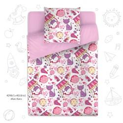 постельное белье для детей, детское постельное белье, постельное белье для девочек с кошками, комплект постельного белья для ребенка с конфетками, поплин, 100% хлопок.