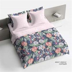 Комплект постельного белья 1.5 Браво Сатин  рис.4363-1+4363а-1 Лукреция - фото 29994