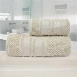 Махровые полотенца Зенит 70*140 беж - фото 30138