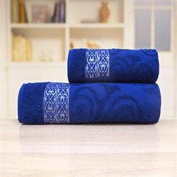 Махровые полотенца Прайд  70*140 синий - фото 30142