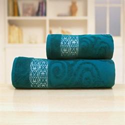 Махровые полотенца 50* 90 зеленый - фото 30148