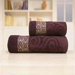Махровые полотенца Прайд 70*140 коричневый - фото 30151