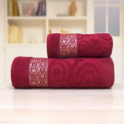 Махровые полотенца Прайд 33* 70 бордовый - фото 30158