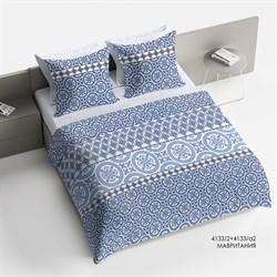 Комплект постельного белья 2.0 макси Браво Сатин рис.4133-2+4133а-2 Мавритания - фото 30197