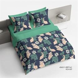 Комплект постельного белья семейный Браво Сатин рис.4365-1+3897а-1 Коллет - фото 30211